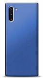 Samsung Galaxy Note 10 Lacivert Mat Silikon Kılıf