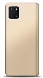 Samsung Galaxy Note 10 Lite Gold Mat Silikon Kılıf