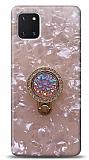 Samsung Galaxy Note 10 Lite Mozaik Yüzüklü Pembe Silikon Kılıf