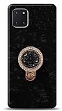 Samsung Galaxy Note 10 Lite Mozaik Yüzüklü Siyah Silikon Kılıf