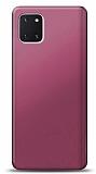 Samsung Galaxy Note 10 Lite Mürdüm Mat Silikon Kılıf