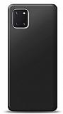 Samsung Galaxy Note 10 Lite Siyah Mat Silikon Kılıf