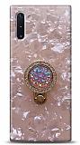 Samsung Galaxy Note 10 Mozaik Yüzüklü Pembe Silikon Kılıf