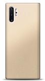 Samsung Galaxy Note 10 Plus Gold Mat Silikon Kılıf