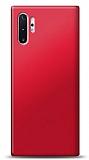 Samsung Galaxy Note 10 Plus Kırmızı Mat Silikon Kılıf