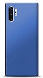 Samsung Galaxy Note 10 Plus Lacivert Mat Silikon Kılıf