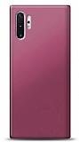 Samsung Galaxy Note 10 Plus Mürdüm Mat Silikon Kılıf