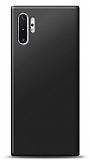 Samsung Galaxy Note 10 Plus Siyah Mat Silikon Kılıf