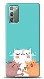 Samsung Galaxy Note 20 Cat Family Kılıf