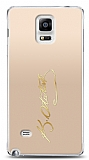 Samsung Galaxy Note 4 Gold Atatürk İmza Kılıf