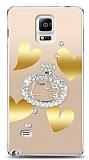 Samsung Galaxy Note 4 Lovely Kitty Taşlı Kılıf