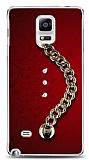 Samsung Galaxy Note 4 Ring Shine Taşlı Metal Askılı Kılıf