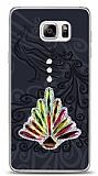 Samsung Galaxy Note 5 Peacock Shine Taşlı Kılıf