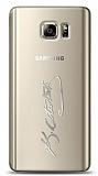 Samsung Galaxy Note 5 Silver Atatürk İmza Kılıf