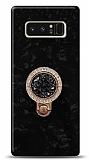 Samsung Galaxy Note 8 Mozaik Yüzüklü Siyah Silikon Kılıf