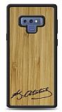 Samsung Galaxy Note 9 Atatürk İmza Ahşap Kılıf