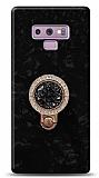 Samsung Galaxy Note 9 Mozaik Yüzüklü Siyah Silikon Kılıf