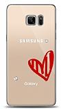 Samsung Galaxy Note FE 3 Taş Love Kılıf
