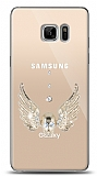 Samsung Galaxy Note FE Angel Death Taşlı Kılıf