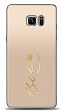 Samsung Galaxy Note FE Gold Atatürk İmza Kılıf