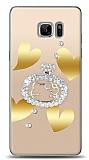 Samsung Galaxy Note FE Lovely Kitty Taşlı Kılıf