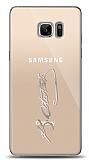 Samsung Galaxy Note FE Silver Atatürk İmza Kılıf