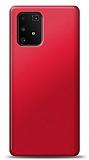 Samsung Galaxy S10 Lite Kırmızı Mat Silikon Kılıf