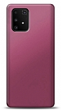 Samsung Galaxy S10 Lite Mürdüm Mat Silikon Kılıf