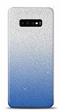Samsung Galaxy S10 Plus Simli Mavi Silikon Kılıf
