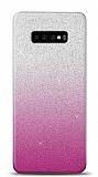 Samsung Galaxy S10 Plus Simli Pembe Silikon Kılıf