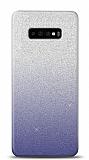 Samsung Galaxy S10 Plus Simli Siyah Silikon Kılıf