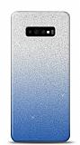 Samsung Galaxy S10 Simli Mavi Silikon Kılıf