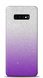 Samsung Galaxy S10 Simli Mor Silikon Kılıf