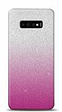 Samsung Galaxy S10 Simli Pembe Silikon Kılıf