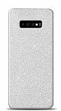 Samsung Galaxy S10 Simli Silver Silikon Kılıf