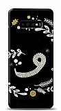 Samsung Galaxy S10 Vav Harfi Taşlı Kılıf