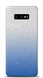 Samsung Galaxy S10e Simli Mavi Silikon Kılıf