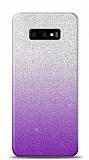 Samsung Galaxy S10e Simli Mor Silikon Kılıf