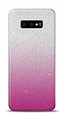 Samsung Galaxy S10e Simli Pembe Silikon Kılıf