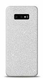 Samsung Galaxy S10e Simli Silver Silikon Kılıf