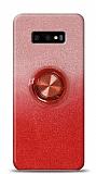 Samsung Galaxy S10e Simli Yüzüklü Kırmızı Silikon Kılıf