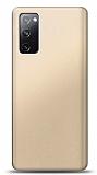 Samsung Galaxy S20 FE Gold Mat Silikon Kılıf