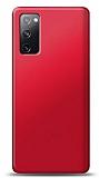 Samsung Galaxy S20 FE Kırmızı Mat Silikon Kılıf