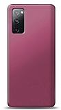 Samsung Galaxy S20 FE Mürdüm Mat Silikon Kılıf