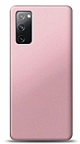 Samsung Galaxy S20 FE Rose Gold Mat Silikon Kılıf