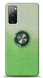 Samsung Galaxy S20 FE Simli Yüzüklü Yeşil Silikon Kılıf
