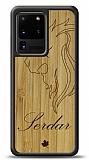Samsung Galaxy S20 Ultra Aslan Kişiye Özel Ahşap Kılıf