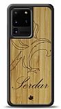 Samsung Galaxy S20 Ultra Kartal Kişiye Özel Ahşap Kılıf