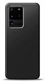 Samsung Galaxy S20 Ultra Siyah Mat Silikon Kılıf