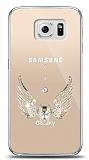 Samsung Galaxy S6 Angel Death Taşlı Kılıf